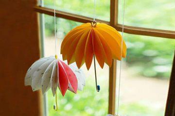 ساخت کاردستی چتر کاغذی - زن امروزی
