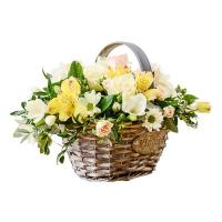 سبد گل فصلی - seasonal flowers baskets