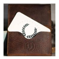 جاکارتی چرم - personalized leather business card holder