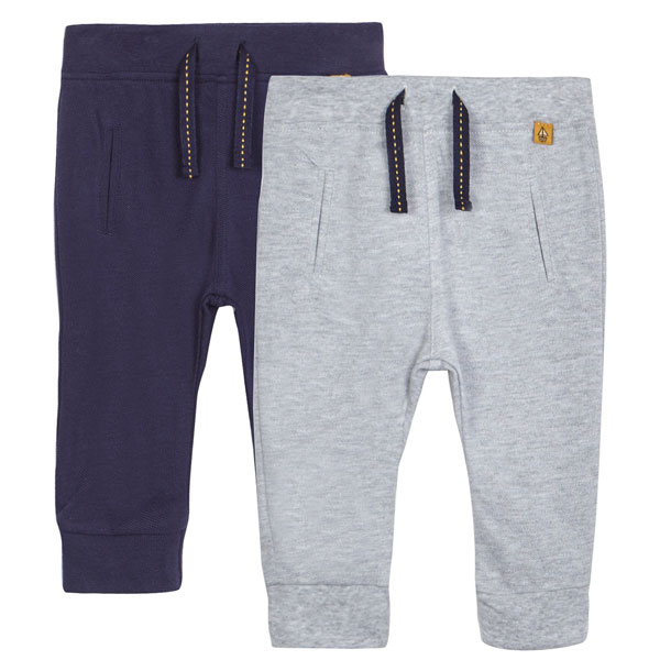 شلوار پسرانه کمر کشی J by Jasper Conran - J by Jasper Conran Pack of two baby boys textured joggers