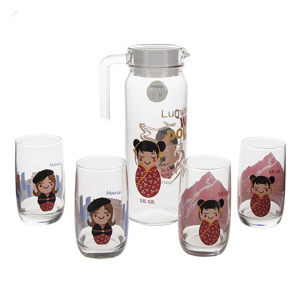 ست پارچ و ليوان لومينارک مدل World Dolls Collection - Luminarc World Dolls Collection Glass And Jug Set